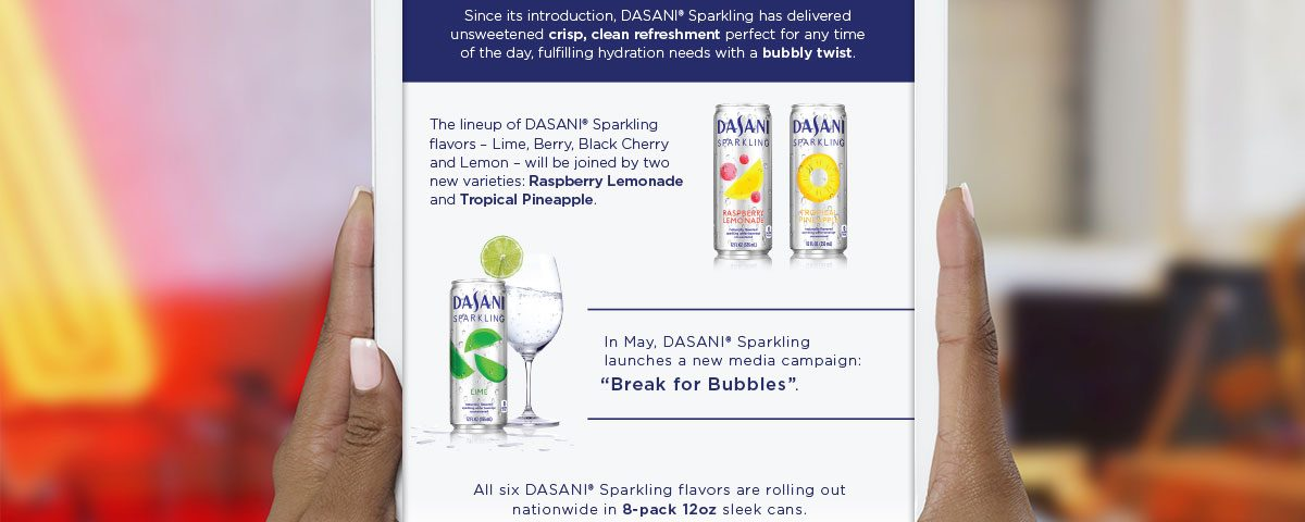Dasani Sparkling Infographic